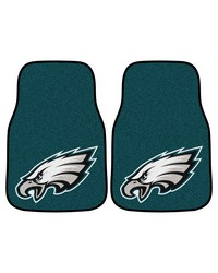 NFL Philadelphia Eagles 2piece Carpeted Car Mats 18x27 by