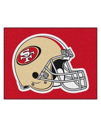 NFL San Francisco 49ers AllStar Mat 34x45 by