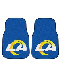 NFL St. Louis Rams 2piece Carpeted Car Mats 18x27 by