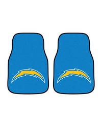 NFL San Diego Chargers 2piece Carpeted Car Mats 18x27 by