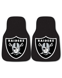 NFL Oakland Raiders 2piece Carpeted Car Mats 18x27 by