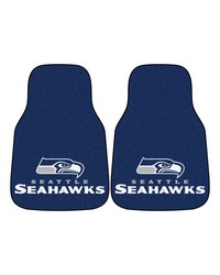 NFL Seattle Seahawks 2piece Carpeted Car Mats 18x27 by