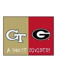 Georgia Tech Georgia House Divided Rugs 34x45 by