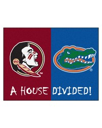 Seminoles Florida House Divided Rugs 34x45 by