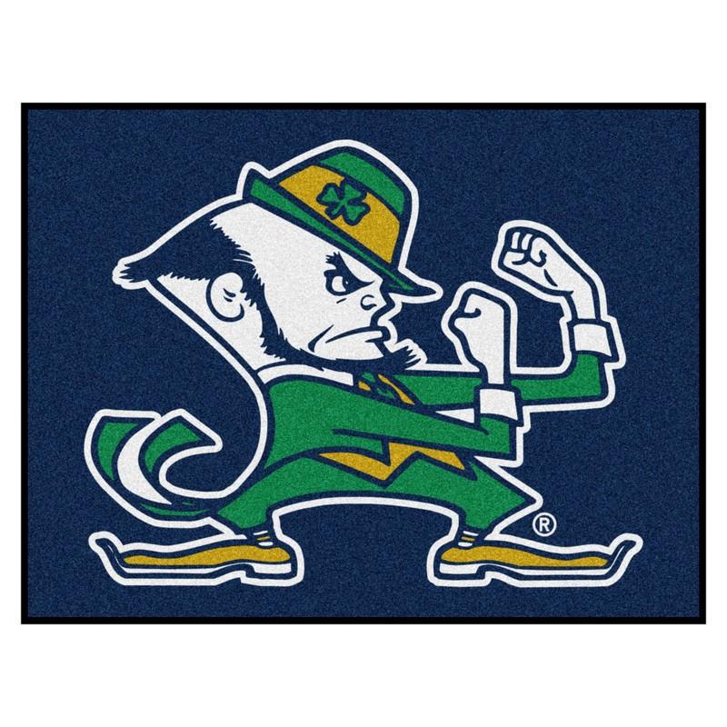 Notre Dame Leprechaun All Star Rug