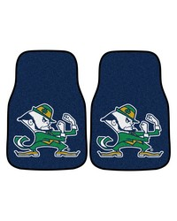 Notre Dame 2-piece Carpeted Car Mats 18x27 by