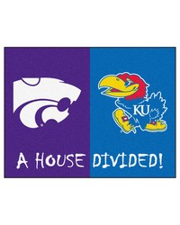 Kansas KState House Divided Rugs 34x45 by