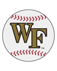 Wake Forest Baseball Mat 26 diameter  by