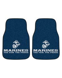 Marines 2piece Carpeted Car Mats 18x27 by