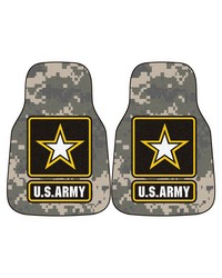 Army 2piece Carpeted Car Mats 18x27 by