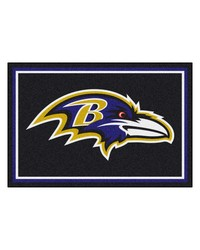 NFL Baltimore Ravens Rug 5x8 60x92 by