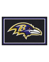 NFL Baltimore Ravens Rug 4x6 46x72 by