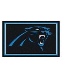 NFL Carolina Panthers Rug 4x6 46x72 by
