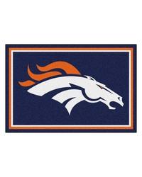 NFL Denver Broncos Rug 5x8 60x92 by