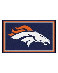 NFL Denver Broncos Rug 4x6 46x72 by