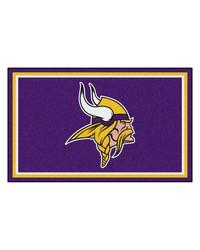 NFL Minnesota Vikings Rug 4x6 46x72 by