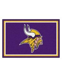 NFL Minnesota Vikings Rug 5x8 60x92 by