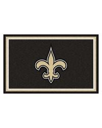 NFL New Orleans Saints Rug 4x6 46x72 by