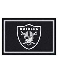NFL Oakland Raiders Rug 5x8 60x92 by