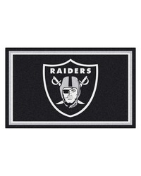 NFL Oakland Raiders Rug 4x6 46x72 by