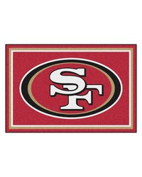 NFL San Francisco 49ers Rug 5x8 60x92 by