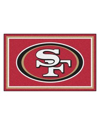 NFL San Francisco 49ers Rug 4x6 46x72 by