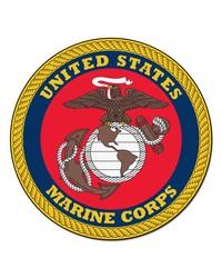 Marines Round Rug 44 diameter by
