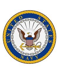 Navy Round Rug 44 diameter by