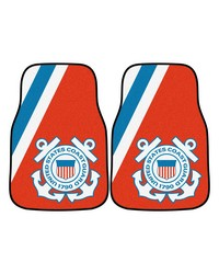 Coast Guard 2piece Carpeted Car Mats 18x27 by