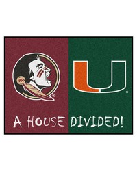 Florida StateMiami House Divided Rugs 34x45 by