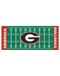 Georgia Bulldogs Field Runner Rug by