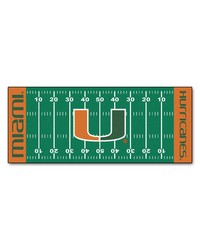 Miami Hurricanes Field Runner Rug by