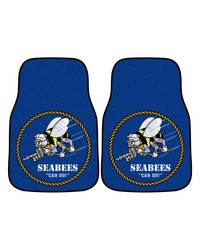 Navy 2piece Carpeted Car Mats 18x27 by