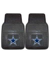 NFL Dallas Cowboys Heavy Duty 2Piece Vinyl Car Mats 18x27 by