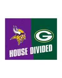 NFL Minnesota Vikings Green Bay Packers House Divided Rugs 34x45 by