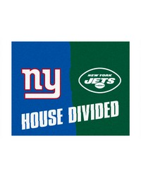 NFL New York Giants New York Jets House Divided Rugs 34x45 by