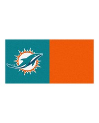 NFL Miami Dolphins Carpet Tiles 18x18 tiles by
