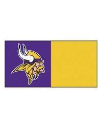 NFL Minnesota Vikings Carpet Tiles 18x18 tiles by