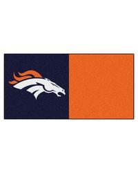 NFL Denver Broncos Carpet Tiles 18x18 tiles by