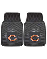 NFL Chicago Bears Heavy Duty 2Piece Vinyl Car Mats 18x27 by