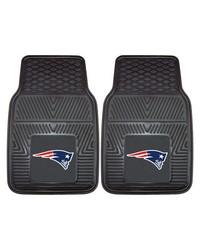 NFL New England Patriots Heavy Duty 2Piece Vinyl Car Mats 18x27 by