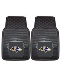 NFL Baltimore Ravens Heavy Duty 2Piece Vinyl Car Mats 18x27 by