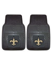 NFL New Orleans Saints Heavy Duty 2Piece Vinyl Car Mats 18x27 by