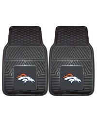 NFL Denver Broncos Heavy Duty 2Piece Vinyl Car Mats 18x27 by