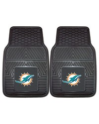 NFL Miami Dolphins Heavy Duty 2Piece Vinyl Car Mats 18x27 by
