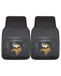 NFL Minnesota Vikings Heavy Duty 2Piece Vinyl Car Mats 18x27 by