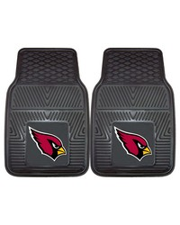 NFL Arizona Cardinals Heavy Duty 2Piece Vinyl Car Mats 18x27 by