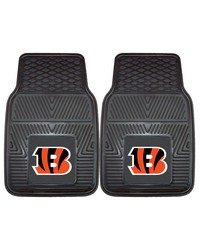 NFL Cincinnati Bengals Heavy Duty 2Piece Vinyl Car Mats 18x27 by