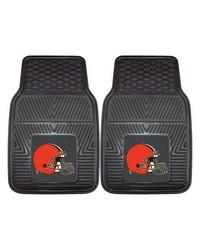 NFL Cleveland Browns Heavy Duty 2Piece Vinyl Car Mats 18x27 by