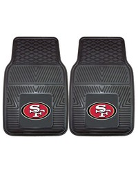 NFL San Francisco 49ers Heavy Duty 2Piece Vinyl Car Mats 18x27 by